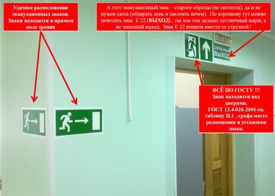 Замки на дверях эвакуационных выходов  Консультации по