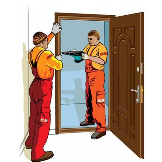 монтаж и монтаж металлической двери