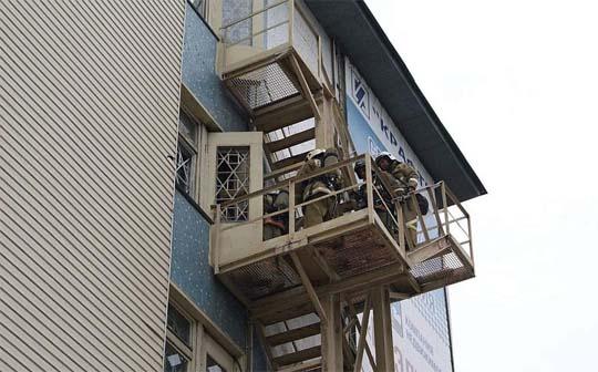 Эвакуация при пожаре с верхних этажей