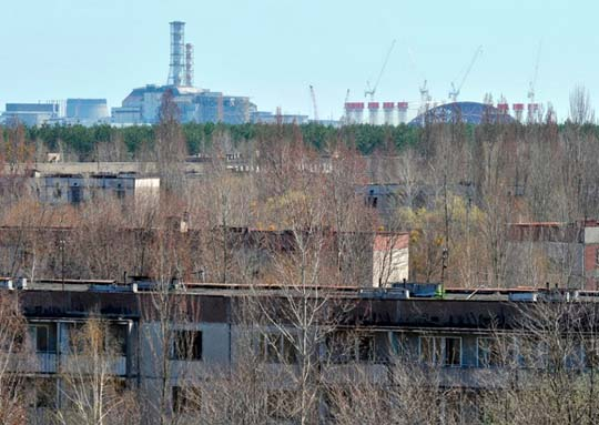 UKRAINE-CHERNOBYL-CONFINEMENT