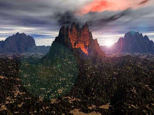 Вулкан мон-пеле (лысая гора), который дал название следующему типу извержений